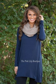 I'll Write Your Name Tunic Navy CLEARANCE - The Pink Lily Boutique