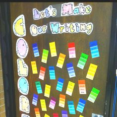 "Have the students make their writing ""more colorful"" by using paint strips. Writ… Have the students make their writing ""more Work On Writing, Writing Words, Writing Workshop, Writing Ideas, Second Grade Writing, Third Grade, Classroom Activities, Reading Activities, Classroom Ideas"