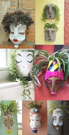 Plan flower pots with recycled plastic bottles - Plan flower pots with recycled. - Plan flower pots with recycled plastic bottles – Plan flower pots with recycled plastic bottles # flower pots bottle – Recycled Garden Art, Garden Crafts, Recycled Crafts, Garden Projects, Diy Crafts, Recycled Planters, Recycled Decor, Recycled Art Projects, Rock Crafts