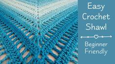 Crochet shawl 70791025381042878 - Beautiful Shawl Tutorial – Design Peak Source by Crochet Shawls And Wraps, Crochet Scarves, Mode Crochet, Crochet Lace, Knitting Patterns, Crochet Patterns, Crochet Triangle, Knitting For Beginners, Easy Knitting