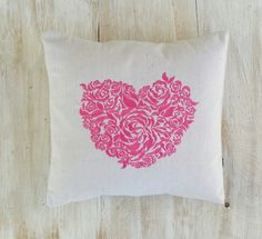 SALE  Was 24.95  Now 16.95  Pink Flowery Heart by LucyLynDesigns