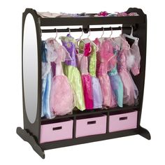 Dress-up closet! Hang all the princess dresses neatly and contain the accessories instead of having them all over the place or shoved in a trunk where you can't see anything...