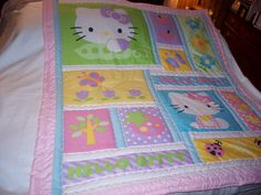 Handmade Baby Hello Kitty Cotton Girl Baby/Toddler by quilty61, $37.00