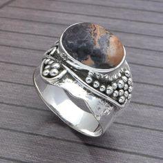 HOT SELL 925 SOLID STERLING SILVER GEMSTONE FANCY RING 6.17g DJR3726 #Handmade #Ring