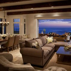 Anne Sneed Architectural Interiors's beach house.  Wow....what a view