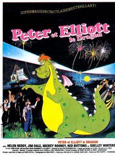 Affiche du dessin animé Peter et Elliott le Dragon sortie en 1977