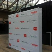 Fabric Step n Repeat Logo Wall Vancouver Eco Fashion Week