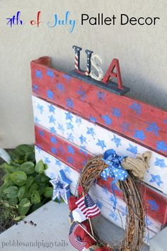 Making Life Blissful: 4th of July Pallet Porch Decor Craft