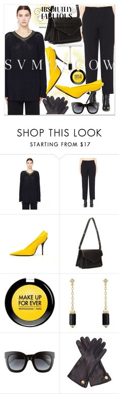 """""""#PolyPresents: New Year's Resolutions"""" by selmir ❤ liked on Polyvore featuring Y's by Yohji Yamamoto, Balenciaga, MAKE UP FOR EVER, David Yurman, Gucci and Cornelia James"""