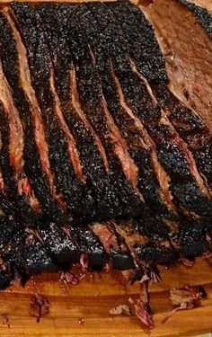 Texas – Known For Its World Famous Brisket : This is it! David Ekstrom's Brisket. The Greatest Texas Ranch Recipe Ever! This recipe looks long and complicated, but I've included every detail I can think of. (It's really pretty… Beef Brisket Recipes, Bbq Brisket, Smoked Beef Brisket, Smoked Meat Recipes, Traeger Recipes, Spinach Recipes, Texas Brisket, Pork Recipes, Best Brisket Rub