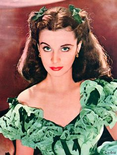 Vivien Leigh as Scarlett O'Hara... I was in Junior High School... I remember it like it was yesterday