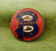 A Genuine Blue Red Butlins Brass Enamel Beavers Pin Badge 2 across brass and enamel item in a good general condition Pin is in full working order Butlins Holidays, Beavers, Button Badge, Camps, Pin Badges, Enamel, Brass, Red, Childhood