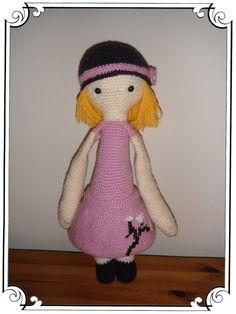 doll mod made by Meg A. / based on a lalylala crochet pattern