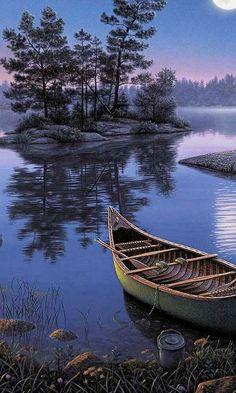 Moonlight Canoe