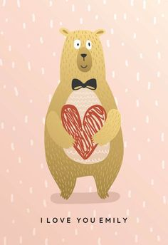 Bear hug - Free Printable Valentine's Day Card   Greetings Island