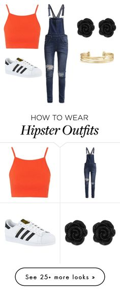 """Hipster overall look"" by catiecat7 on Polyvore featuring Topshop, adidas, Cheap Monday and Stella & Dot"