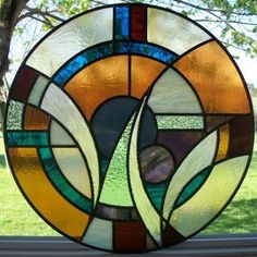 Stained glass repair and custom designs! #StainedGlassAbstract