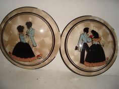 Vintage Peter Watson Studio Convex reverse painted on glass silhouettes | Collectibles, Decorative Collectibles, Wall Hangings, Mirrors | eBay!