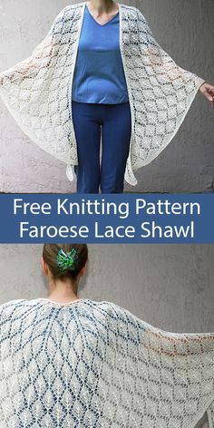 Diy Crafts - Free Knitting Pattern for Leaf Lace Faroese Shawl - Top-down, leaf lace shawl shaped to stay on your shoulders. The Faroese shoulder shap Lace Knitting Patterns, Knitting Blogs, Lace Patterns, Knitting For Beginners, Knitting Stitches, Free Knitting, Leaf Knitting Pattern, Finger Knitting, Scarf Patterns