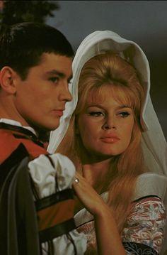 "missbrigittebardot: "" Brigitte Bardot & Alain Delon in ""Les Amours…"