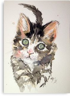 Painting result for animals in watercolor - Tiere Malen Aquarell - Katze Watercolor Cat, Watercolor Animals, Watercolor Paintings, Watercolors, Watercolor Pictures, Painting Pictures, Cat Drawing, Painting & Drawing, Image Painting