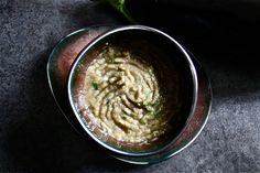 Grilled eggplant vegan salad
