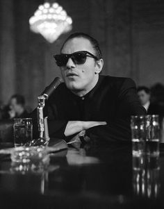 """Mobster """"Crazy"""" Joey Gallo, in Ray Bans. He befriended Hollywood stars and was something of a celebrity himself."""