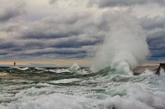 Sandys Effect on Superior by Mike Kvackay, via 500px