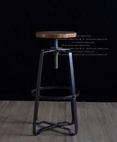Bathroom Chair Lift Best Of Loft Style French Furniture Metal Wood Bar Chair Bar Chair High Bar Stool Chairs, Old Chairs, Metal Chairs, High Chairs, French Furniture, Metal Furniture, Wrought Iron Bar Stools, Retro Bar Stools, Chaise Bar