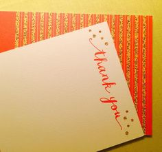 Chic thank you cards