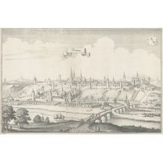 Fritzlar, Hessen, Kupferstich, Fototapete Merian, Stich
