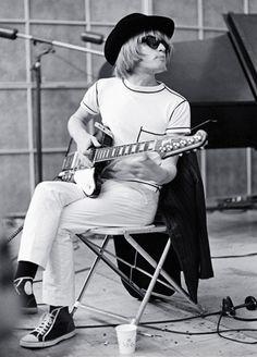 Brian Jones in the studio.