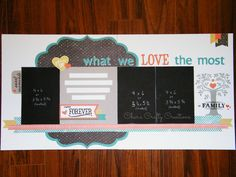 Char's Crafty Creations CTMH Chalk It Up layout featuring the September SOTM Family is Forever