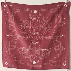 "Silk handkerchief. Designed by Banshee. 20x20"". Available at  bansheepress.com/shop Silk Handkerchief, Arrows, Stitch, Instagram Posts, Shopping, Design, Style, Swag, Full Stop"