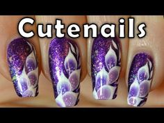 In this nail art tutorial, I'll show you how to make some kind of exotic feathers with the one stroke technic. Pink petals on a purple polish base with blue glitter, so cute!    ♥ If you like my nail art designs, feel free to click Like button! :)  ♥ Comment, share if you like this easy bling bling nail art tutorial !  ♥ Subscribe to my channel to w...