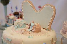 Aniversário da Minnie | Bolo em azul
