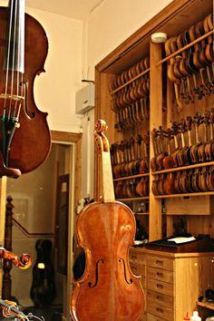 The workshop of a violin maker, Maastricht, The Netherlands