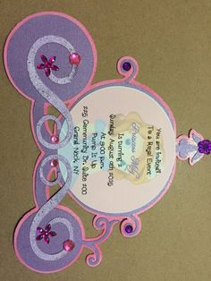 Sofia The First Invitation by InvitesLove on Etsy Princess Sofia Birthday, Princess Sofia The First, Sofia The First Birthday Party, Sofia Party, 3rd Birthday Parties, Princess Party, Birthday Party Invitations, Handmade Invitations, Custom Invitations