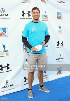 "Pro Baseball Player Josh Beckett attends the annual Ping Pong 4 Purpose charity event benefiting the ""Kershaw's Challenge"" charity at Dodger Stadium on September 2014 in Los Angeles,. Pro Baseball, Baseball Players, Josh Beckett, Dodger Stadium, Dodgers, Under Armour, Age"