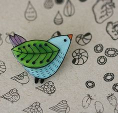 Sweet Wren pin by Lila Ruby King - annarubyking