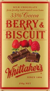 Berry and Biscuit - Whittakers - : Gifts New Zealand - NZ Shop : Shop New Zealand Love Chocolate, Chocolate Lovers, Food Standards Agency, Cookie Flavors, Fresh Meat, Mixed Berries, Candy Store, Match Making, Vanilla Flavoring