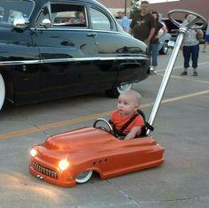 Low rider Merc kid car with lights