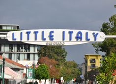 little italy just a few blocks northeast of the harborfront and the Gaslamp District.