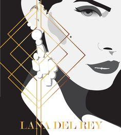 Illustrator Art Deco Lana Del Rey