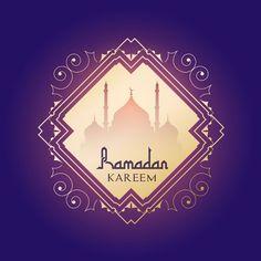 Decorative background for ramadan Free Vector