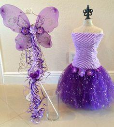 Purple tutu set Purple tutu Dress Fairy Costume. by partiesandfun, $37.00