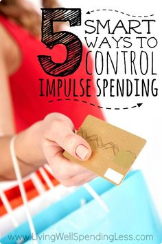 Have you ever blown your budget with an impulsive purchase and then regretted it later?  Buying on impulse can happen to the best of us, but it doesn't have to spell disaster.  Don't miss these five smart ways to finally get control over your impulse spending.....once and for all! #smartmoney