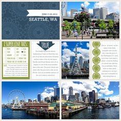 Project Life | Seattle Travel Layouts: Rain Edition | Hello Stories | teresavictor.com