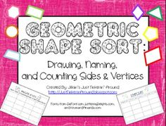 Free on TpT 4th Grade: Geometric Shape Sort