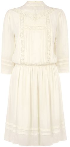 Womens cream dress from Oasis - £55 at ClothingByColour.com